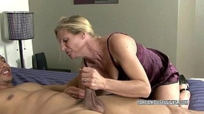 blonde  blowjob  cougar  dude