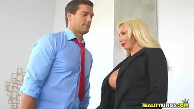 bald pussy  big boobs  blonde  boss