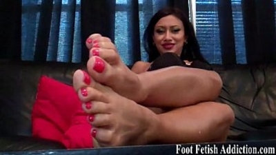 foot fetish  mouth